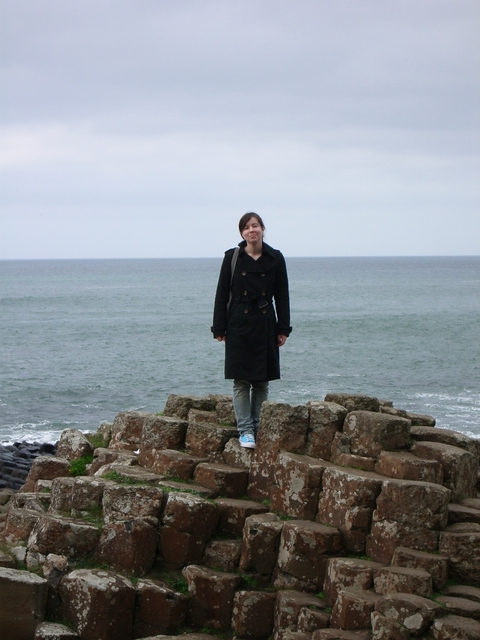Katherine on the Giant's Causeway